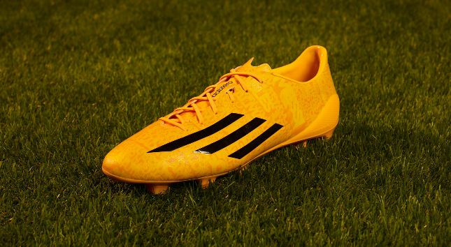 the latest c1e51 b3950 Leo Messi - adidas f50 adizero - Yellow   Neon Orange - Aug 2014