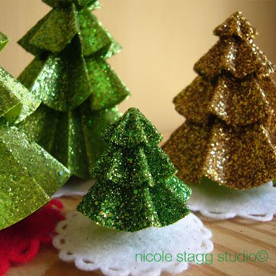 nativity, christmas, trees, paper, glitter Christmas - loving - how to decorate a small christmas tree