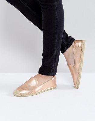 e5f8c5c40 Soludos Rose Gold Espadrille Rose Gold Metallic Shoes