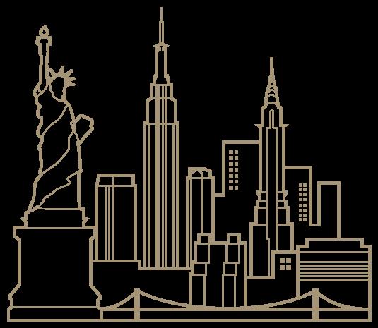 New York skyline   2 # Cakes - City   Pinterest   Horizonte de nueva ...