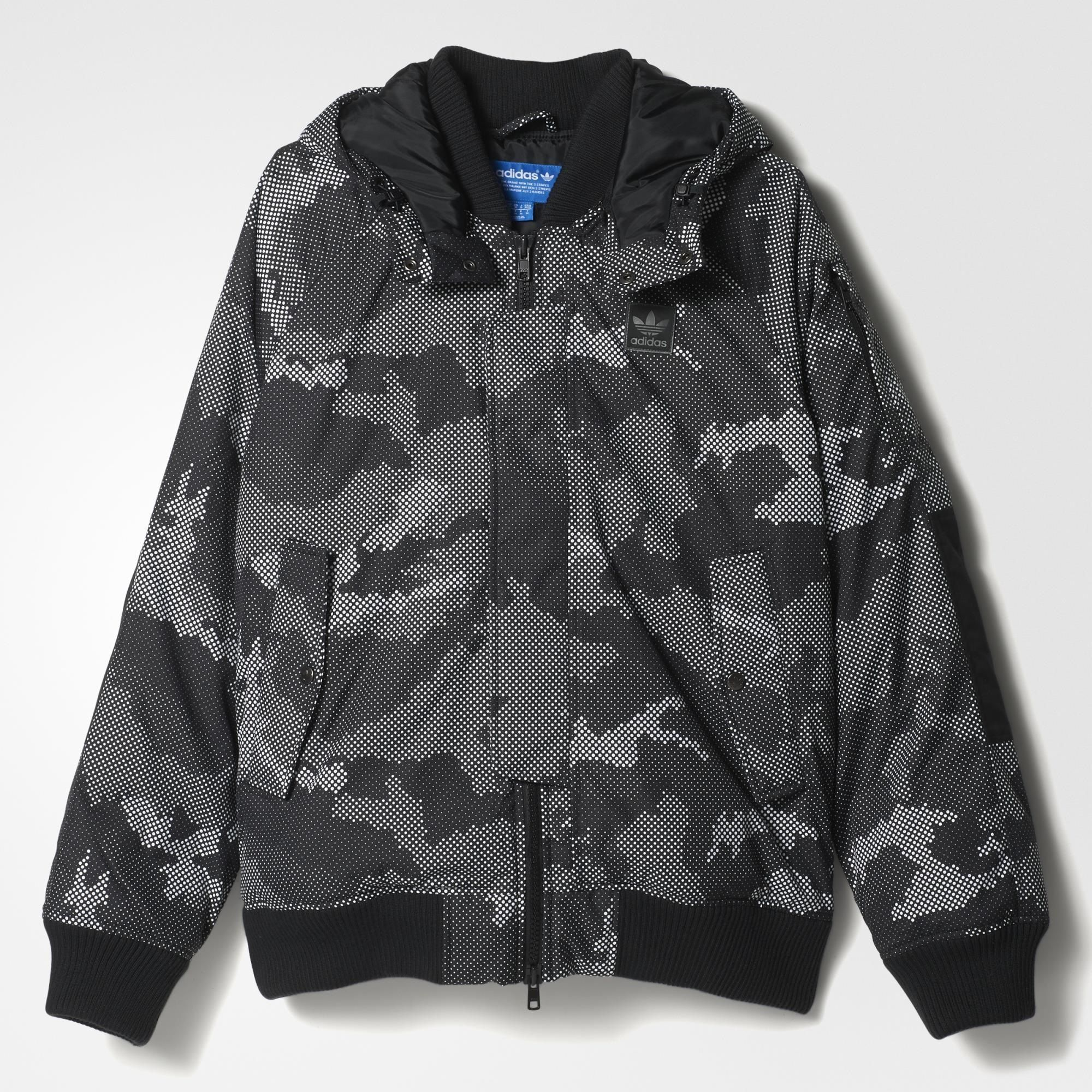 adidas superstar down snow camo track jacket black. Black Bedroom Furniture Sets. Home Design Ideas
