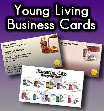 Young Living Business Cards YL Essential Oil Business Cards