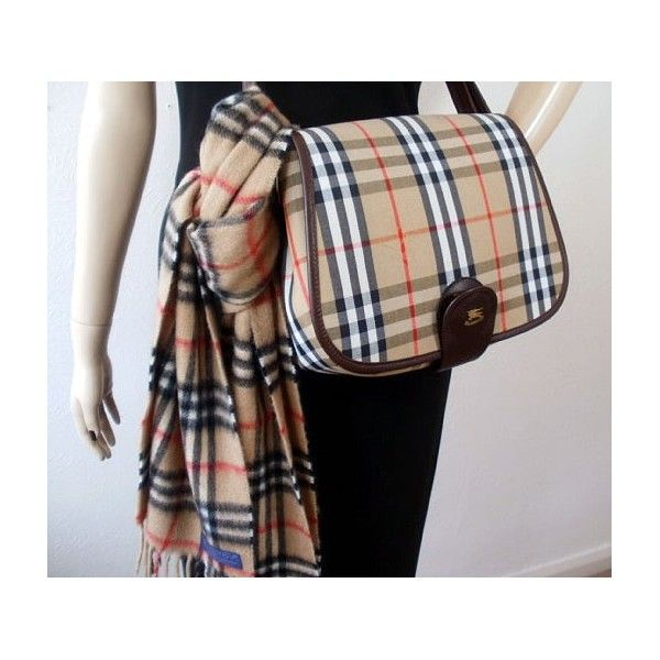 Vintage Burberry Burberrys Haymarket Handbag Nova Check Leather Trim Unused Saddle Bag Fashion Fashion Models Vintage Bags