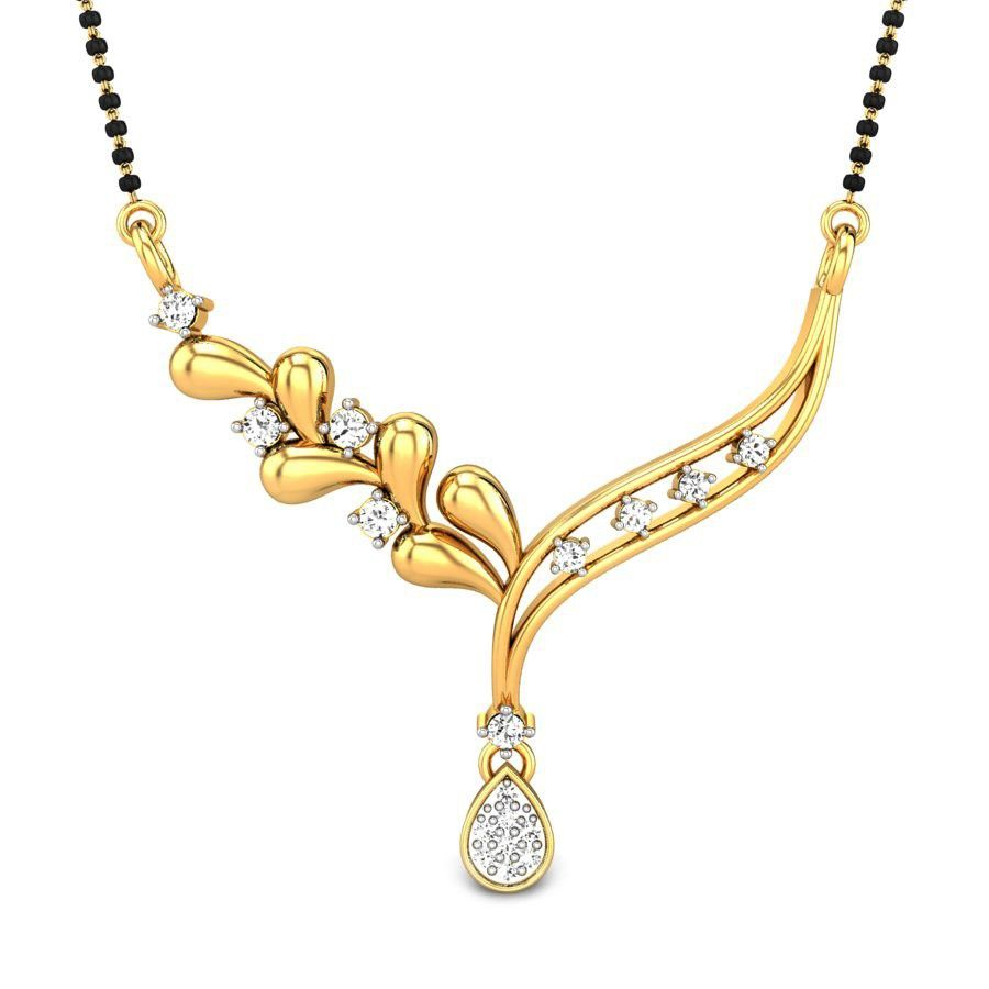 Mysha mangalsutra pendant diamond everyday mangalsutras