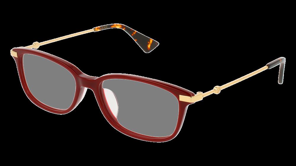5c03a1b0eb0 Gucci - GG0112OA-005 Burgundy Gold Eyeglasses   Demo Lenses ...