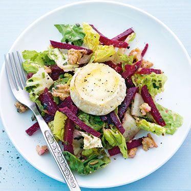 Rote-Bete-Salat mit Gratiniertem Ziegenkäse Rezept   Küchengötter