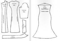 Moldes vestido para barbie - Imagui