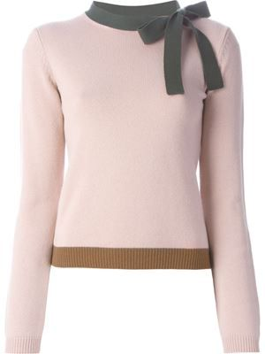 bow detail sweater