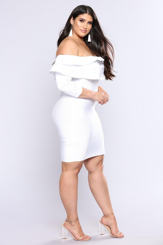 Anastasia Bandage Dress White Curvy Curves And Real Women