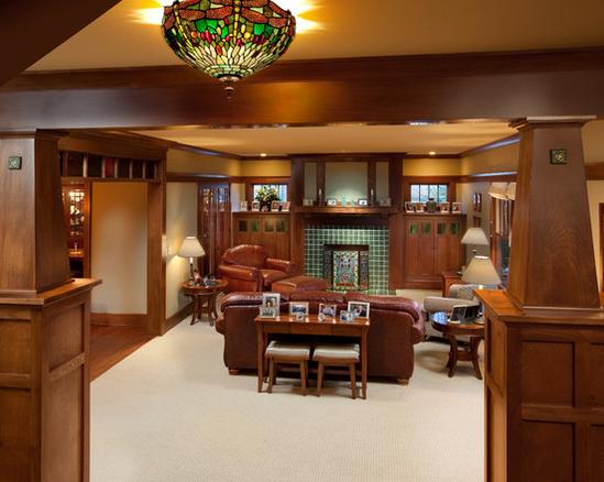 Handsome Green Lamp Decorating Ideas Living Room Craftsman ...