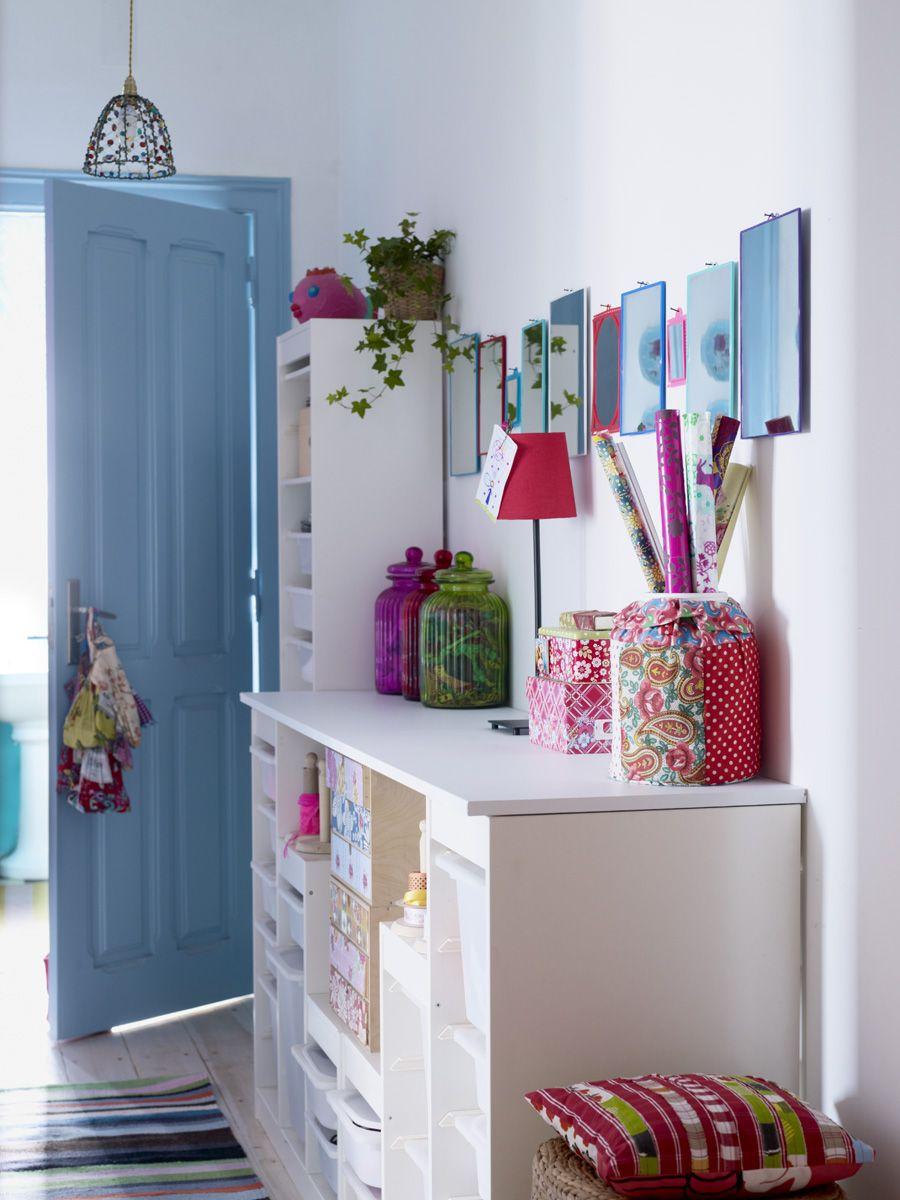 Teal hallway ideas  Hallway storage units and colourful decor  Duvar  Pinterest