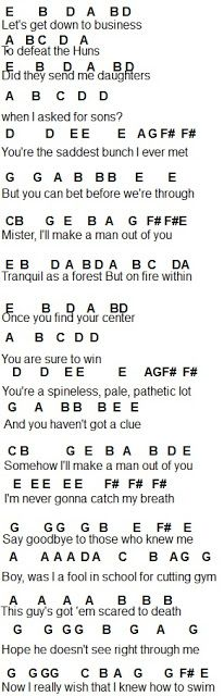 Flute Sheet Music Ill Make A Man Out Of You Chords Pinterest