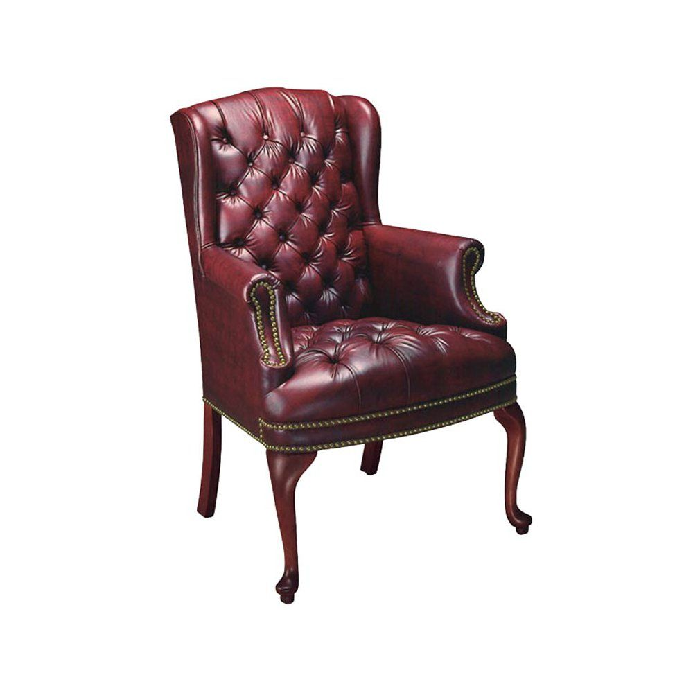 Ch02973 chair leather wing chair green leather chair