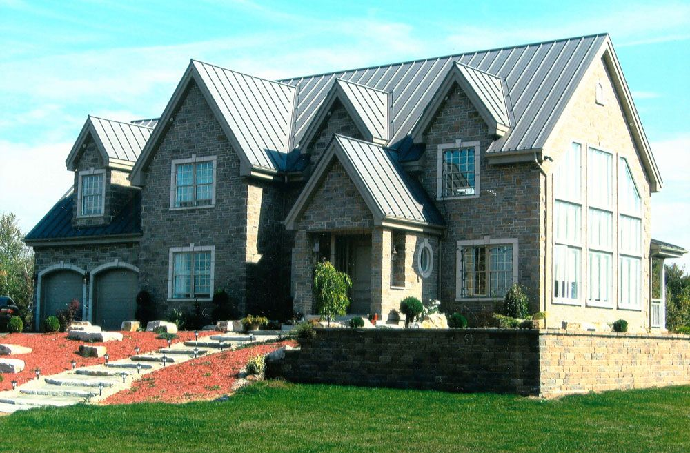 Standing seam steel roofing from Ideal Roofing Co. Ltd