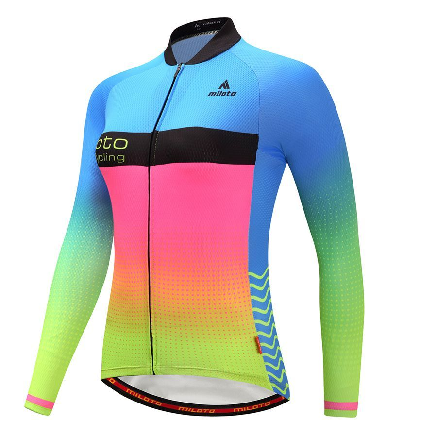 Miloto Women Long Sleeve Cycling Jersey Cycling Clothing Outdoor Bicycle  maillot ciclismo Breathable Bike Clothes roupa ciclismo. 6735417b2