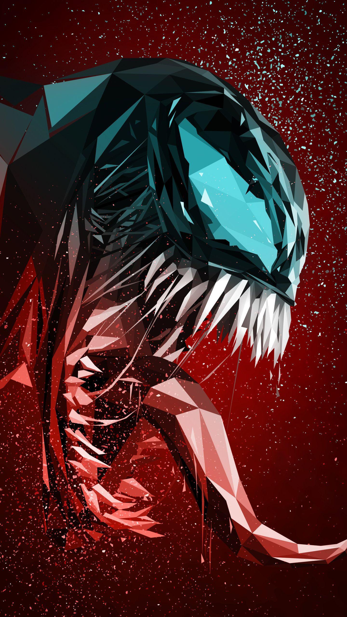 Venom Digital Illustration 4K HD Wallpaper (1440x2560 ...