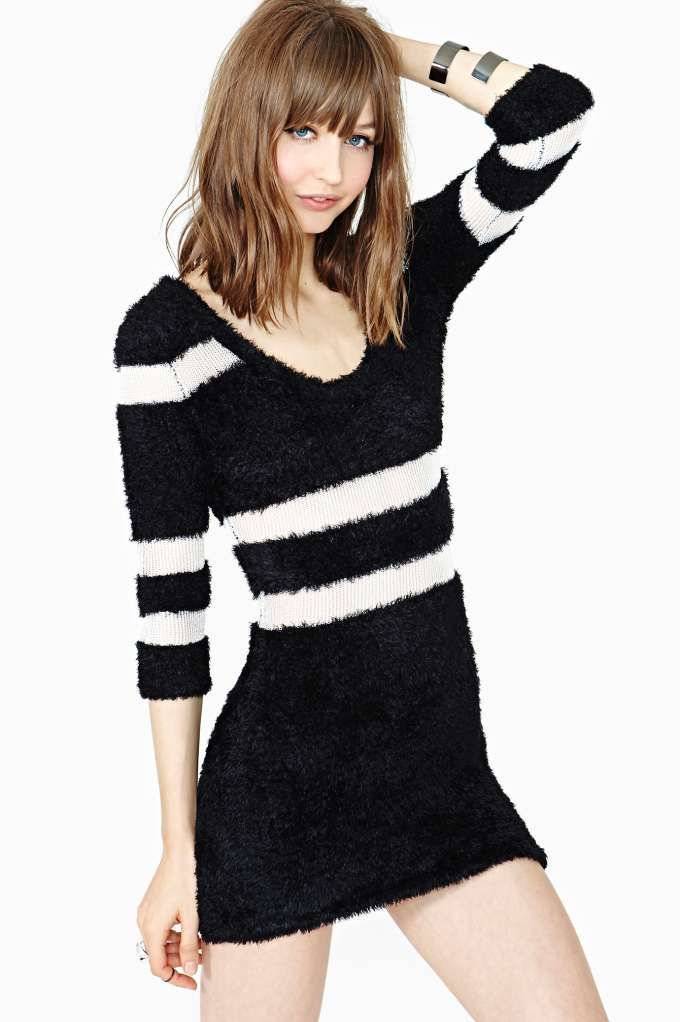 0adaa8356a Nasty Gal Censored Sweater Dress
