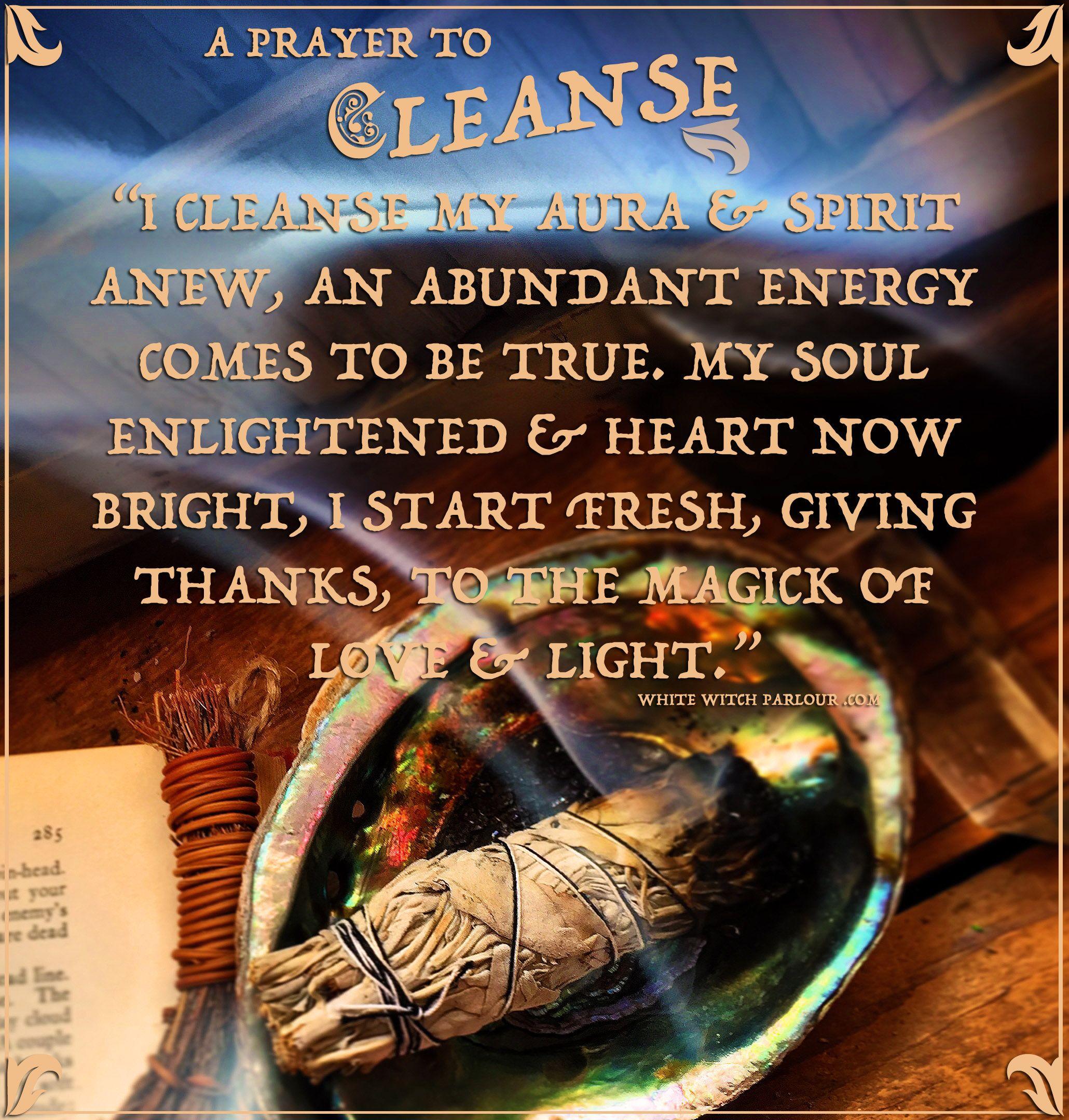 Cleanse Blessing Prayer Magic Smudge Witch Metaphysical Sage Spiritual Mystic Goddess Enchant Smudging Prayer Sage Cleansing Prayer Cleansing Prayer