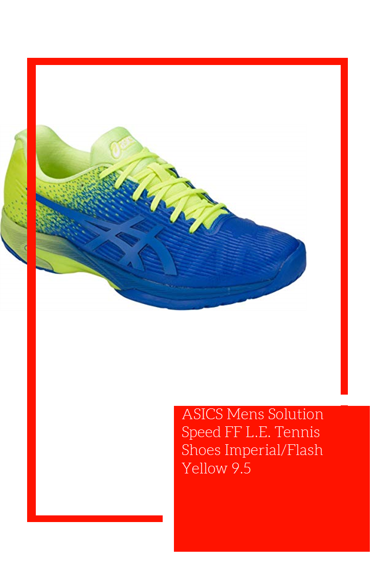 Asics Mens Solution Speed Ff L E Tennis Shoes Imperial Flash Yellow 9 5 Tennis Shoes Asics Yellow