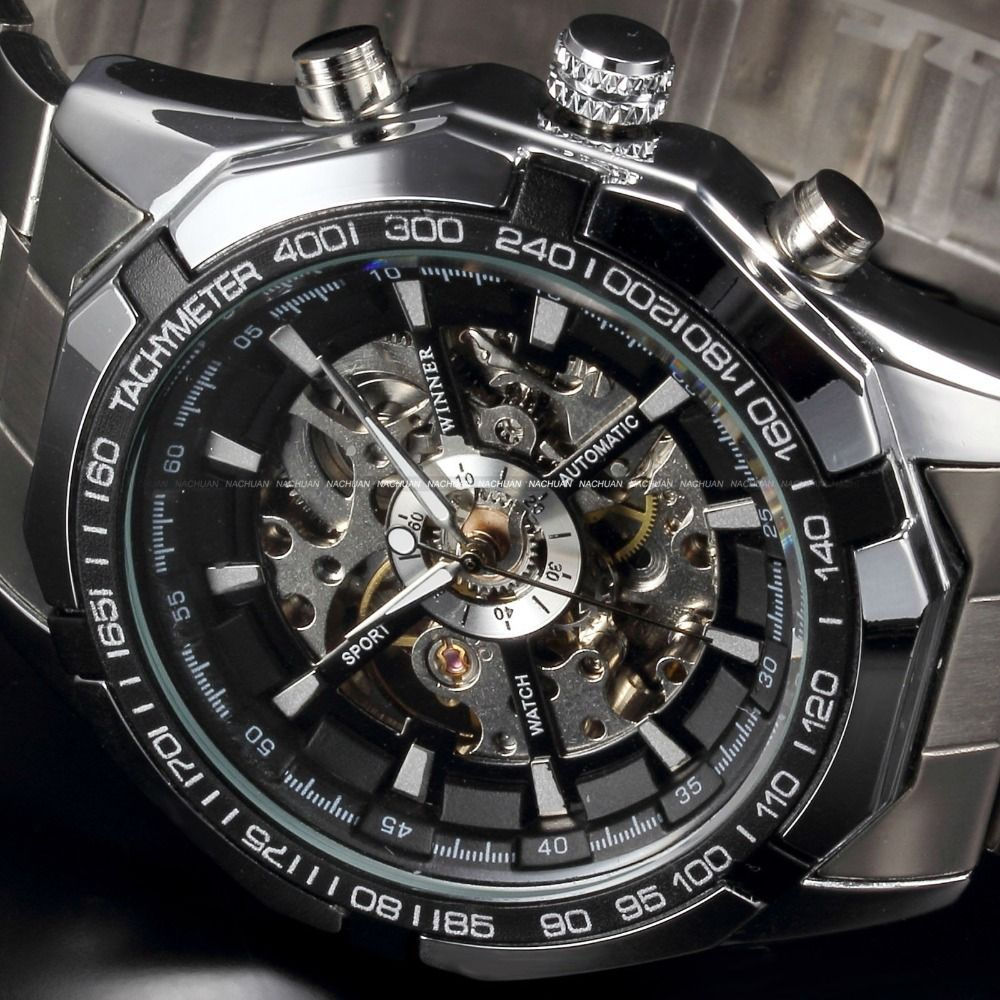 classic luxury winner mens transparent automatic skeleton classic luxury winner mens transparent automatic skeleton mechanical watches men brand military full steel relogio masculino