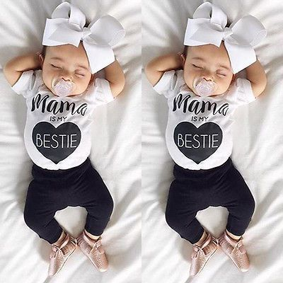 d79ba69417a6 Newborn Infant Baby Boys Girls Bodysuit Romper Jumpsuit Outfits ...
