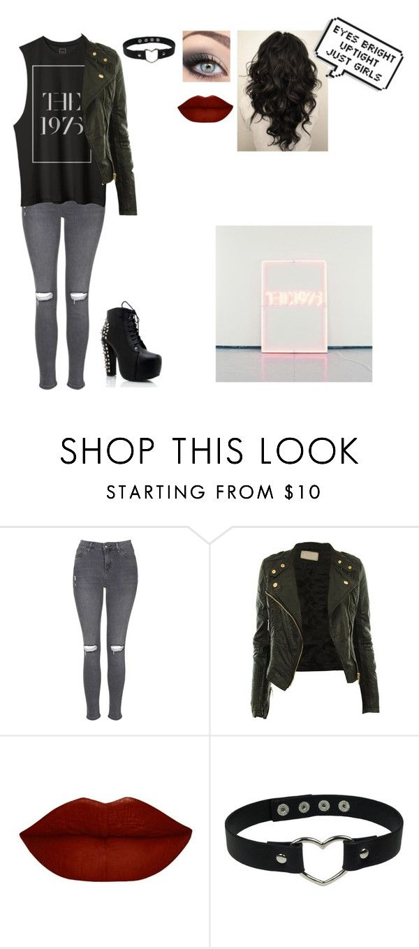 """""""Love Me - The 1975"""" by maddietheyoungeblood ❤ liked on Polyvore featuring Topshop"""