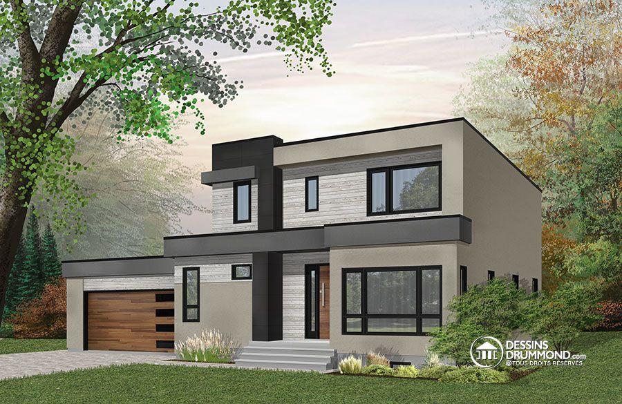 Détail du plan de Maison unifamiliale W3883-V1 Maison cool Pinterest