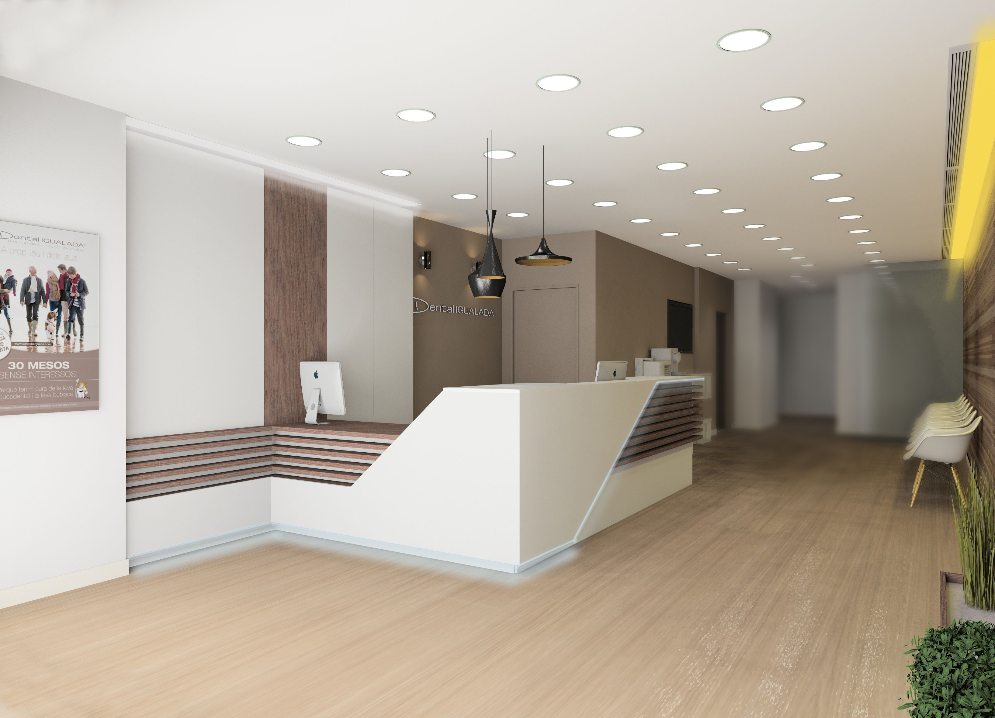 Reception Desk Idea Interior Design (Dental Clinic) by Paco Ortega ...