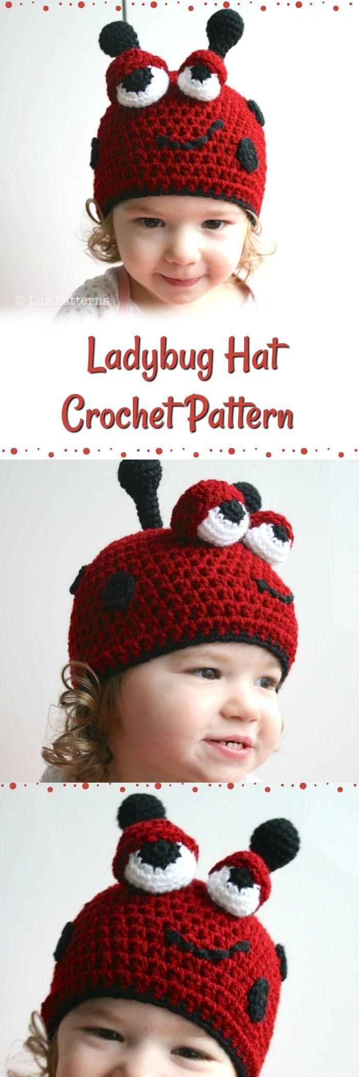 Ladybug Hat Crochet Pattern. Instant pdf pattern download. What a ...