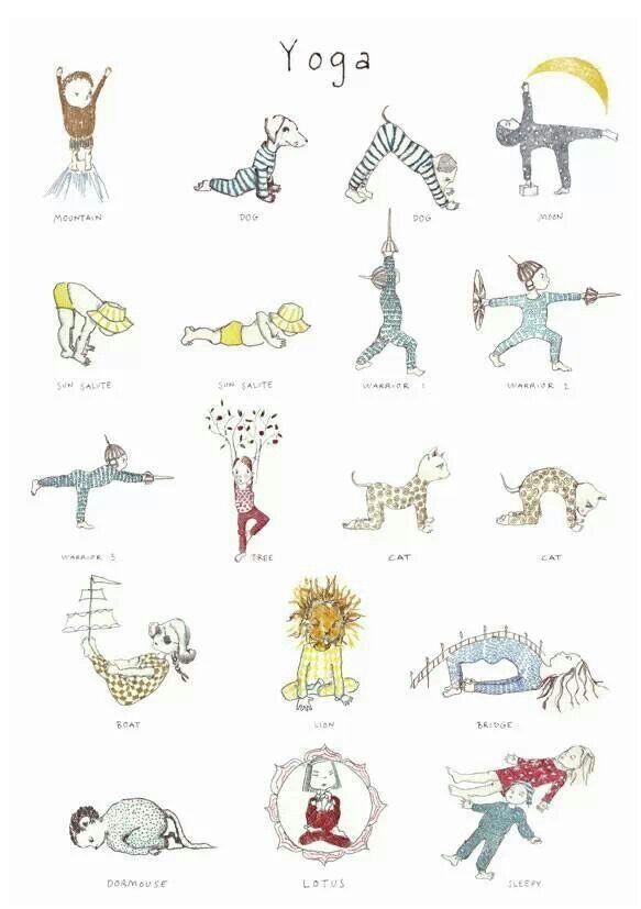Yoga Chart For Kids