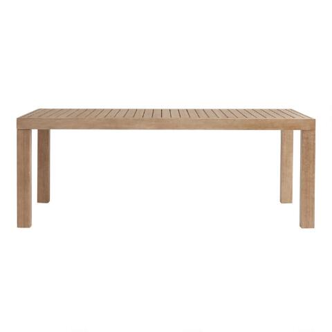 Light Brown Eucalyptus Segovia Outdoor Dining Table In 2020