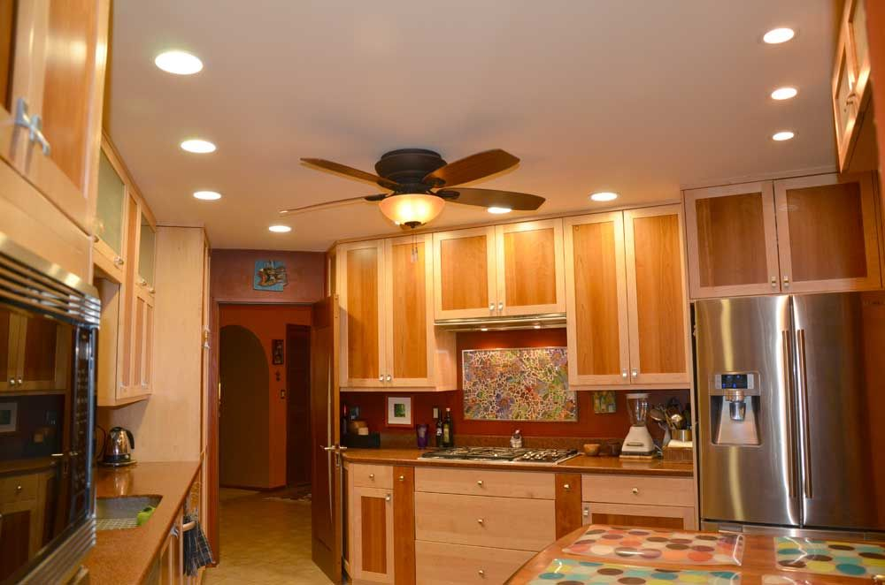 Kitchen Ceiling Fans Tips For Designing Recessed Kitchen