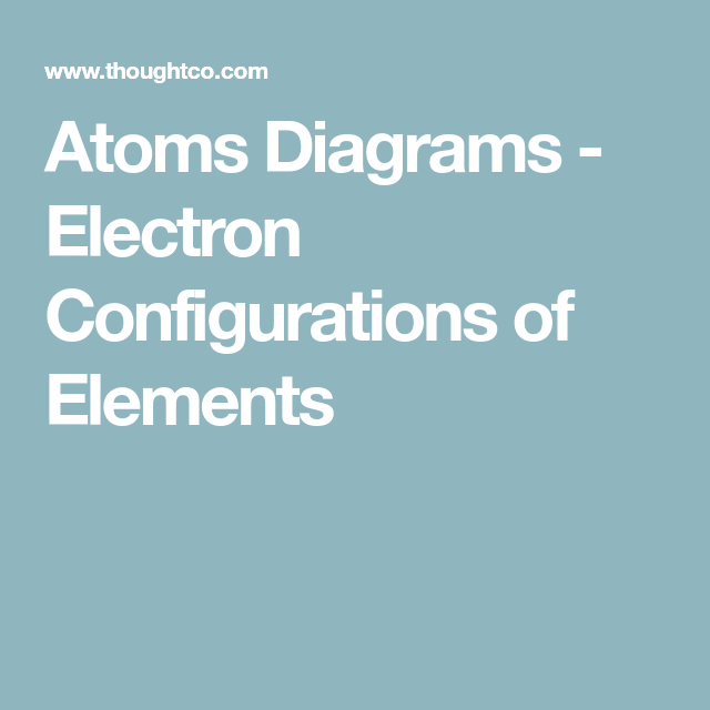 See the Electron Configuration of Atoms of the Elements | Atom ...