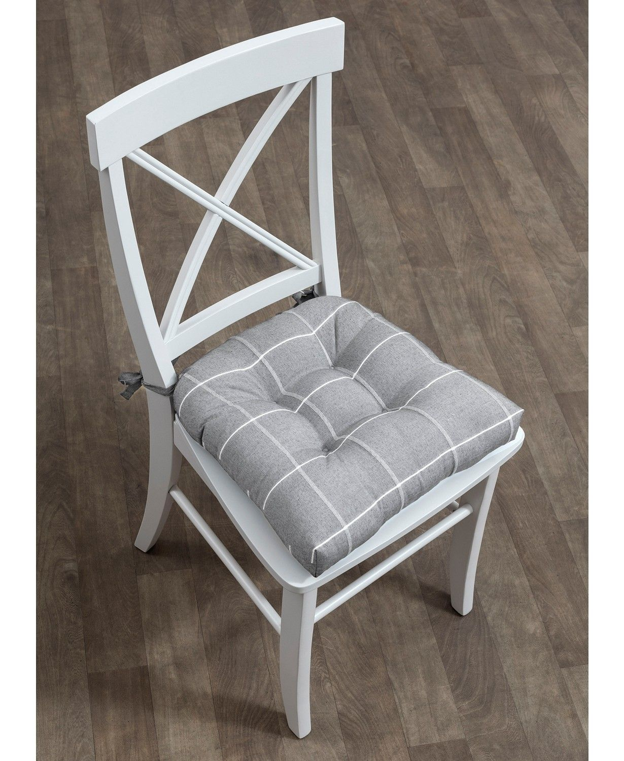 Arlee Home Fashions Highland Set of Two Chair Pad Seat Cushions