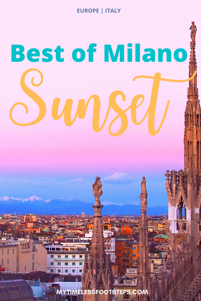 Walk through a forest of towers, spires and decorative marble statues and be in awe in more times than once as you watch the changing hues of the sunset over the majestic City of Milan. A detailed guide including videos. #milan #duomomilano #sunset #bestofmilan #bestofmilano #bestofitalia via @GGeorgina_mytimelessfootsteps/