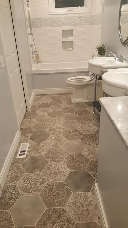 Lowe S 10x12 Tile Love This Pattern Best Bathroom Flooring Bathroom Flooring Amazing Bathrooms