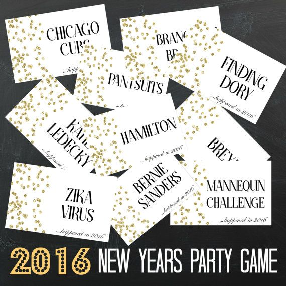 Wedding Charades Ideas: INSTANT DOWNLOAD Printable 2017 New Years Eve Party Game