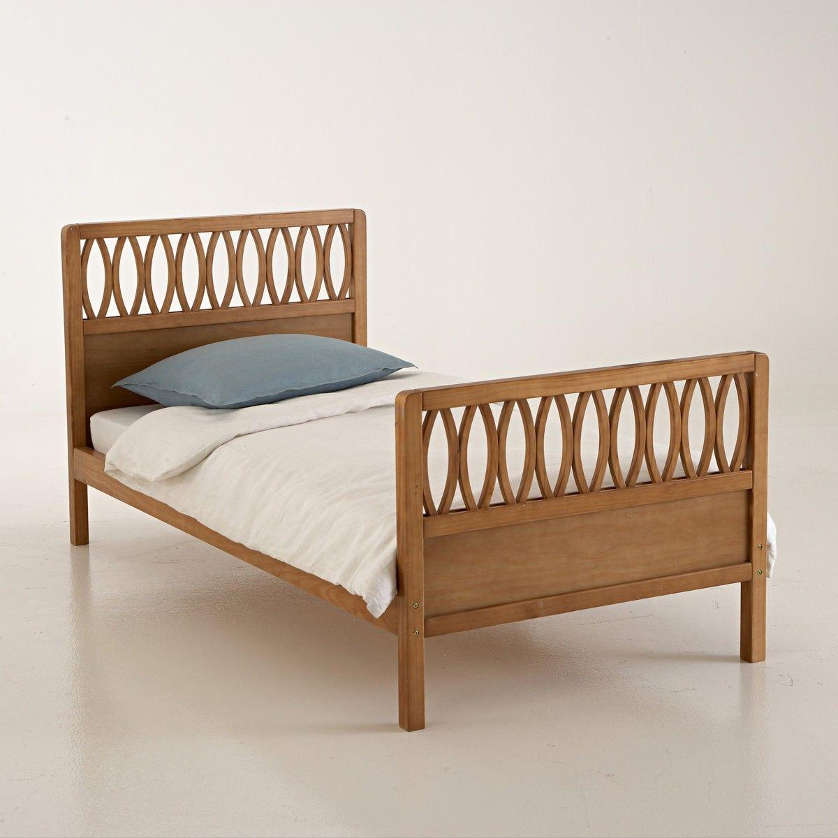 description du lit vintage malu pour couchage dimension 90 x 190 cm tete et