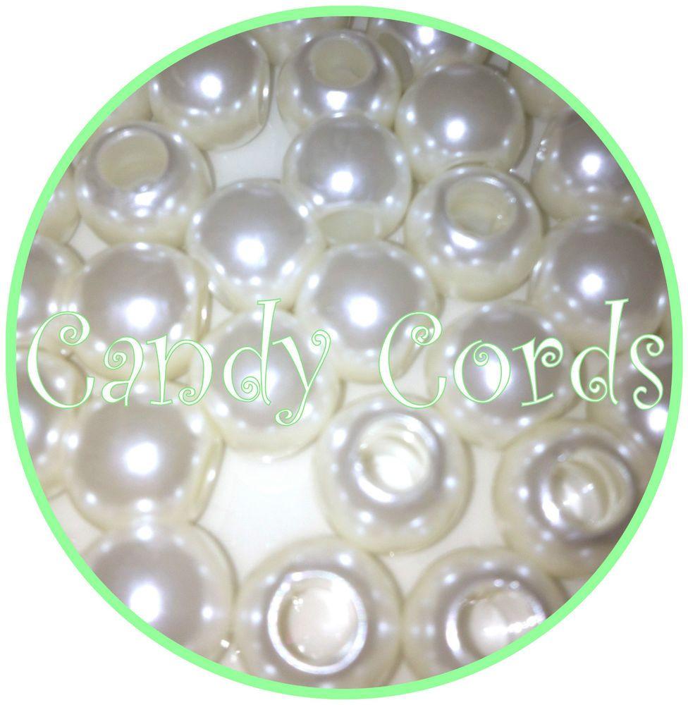 12mm Large Hole Pearl Beads Rattail Kumihimo European Show Lead Macrame 5mm Hole