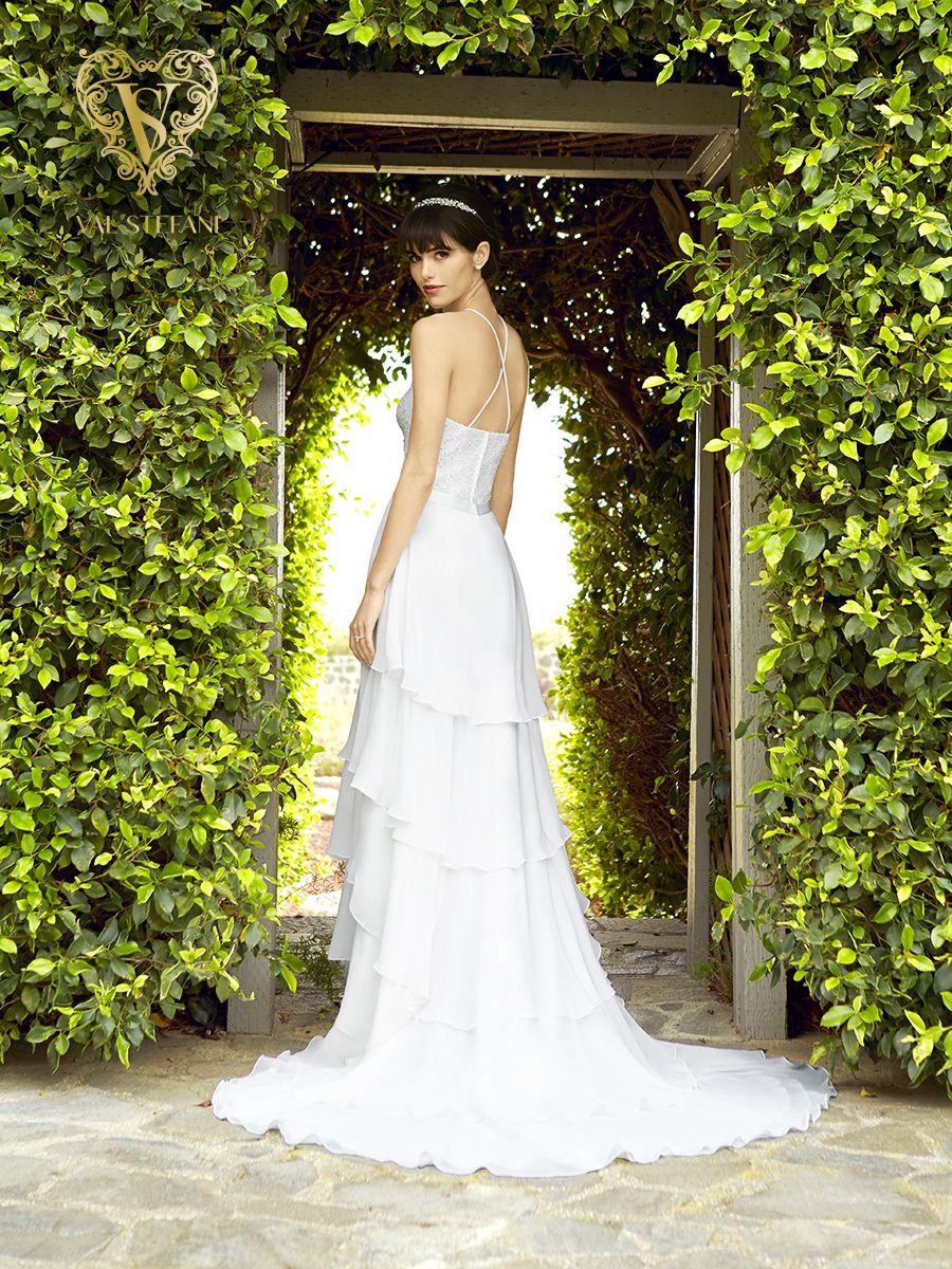Tiered chiffon bridal skirt simply val stefani s boho wedding
