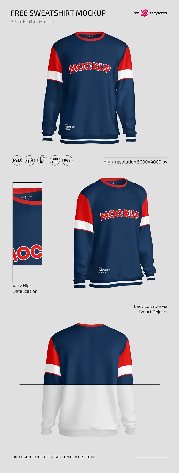 Free Sweatshirt Mockups In Psd Free Psd Templates Clothing Mockup Sweatshirts Mockup