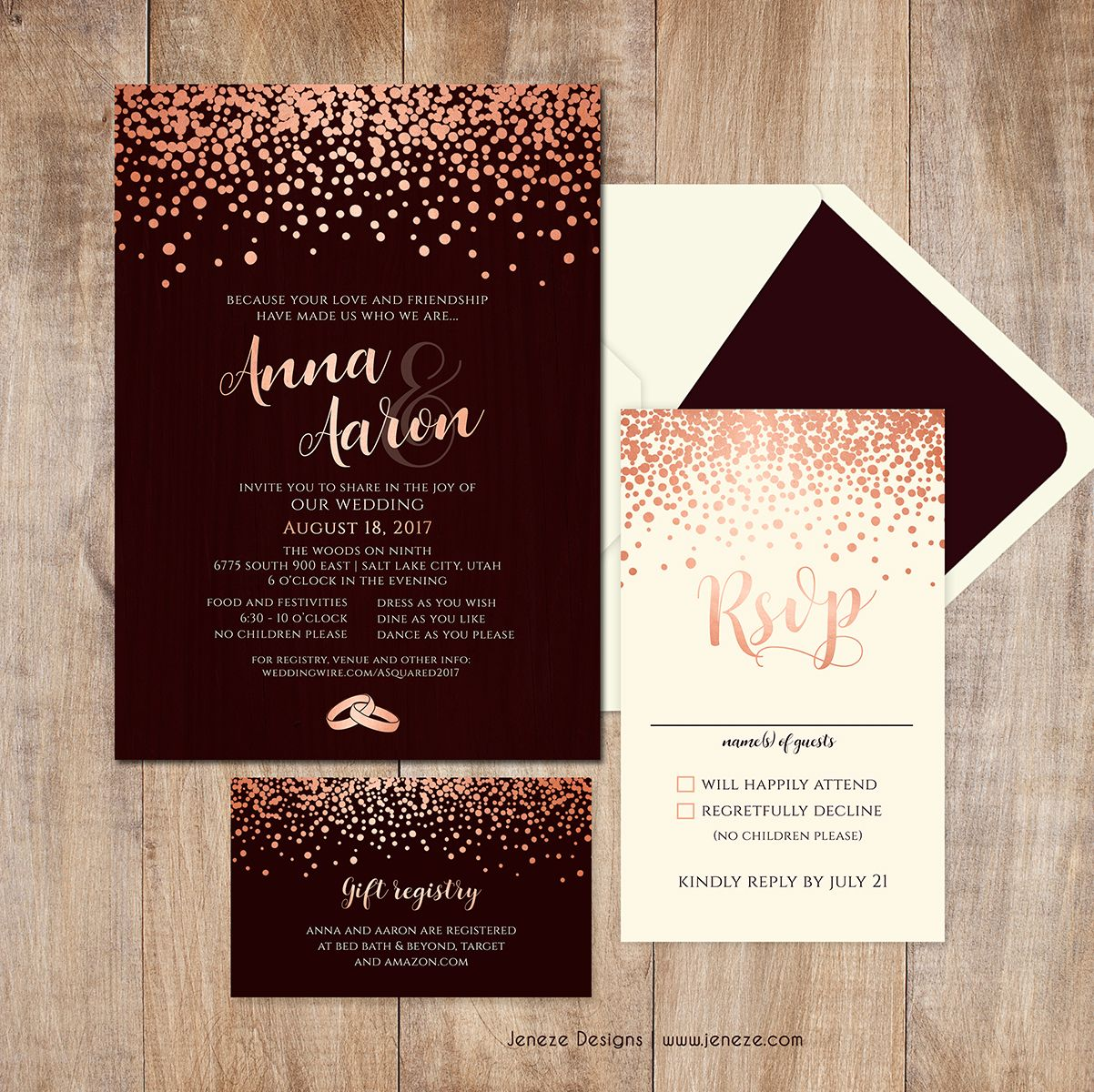 Modern Wedding Invitations Modern Traditional Pastel Wedding