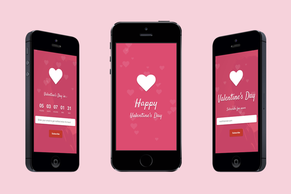 Valentine Responsive Landing Page Landing Page Valentine S Day Greeting Cards Valentine