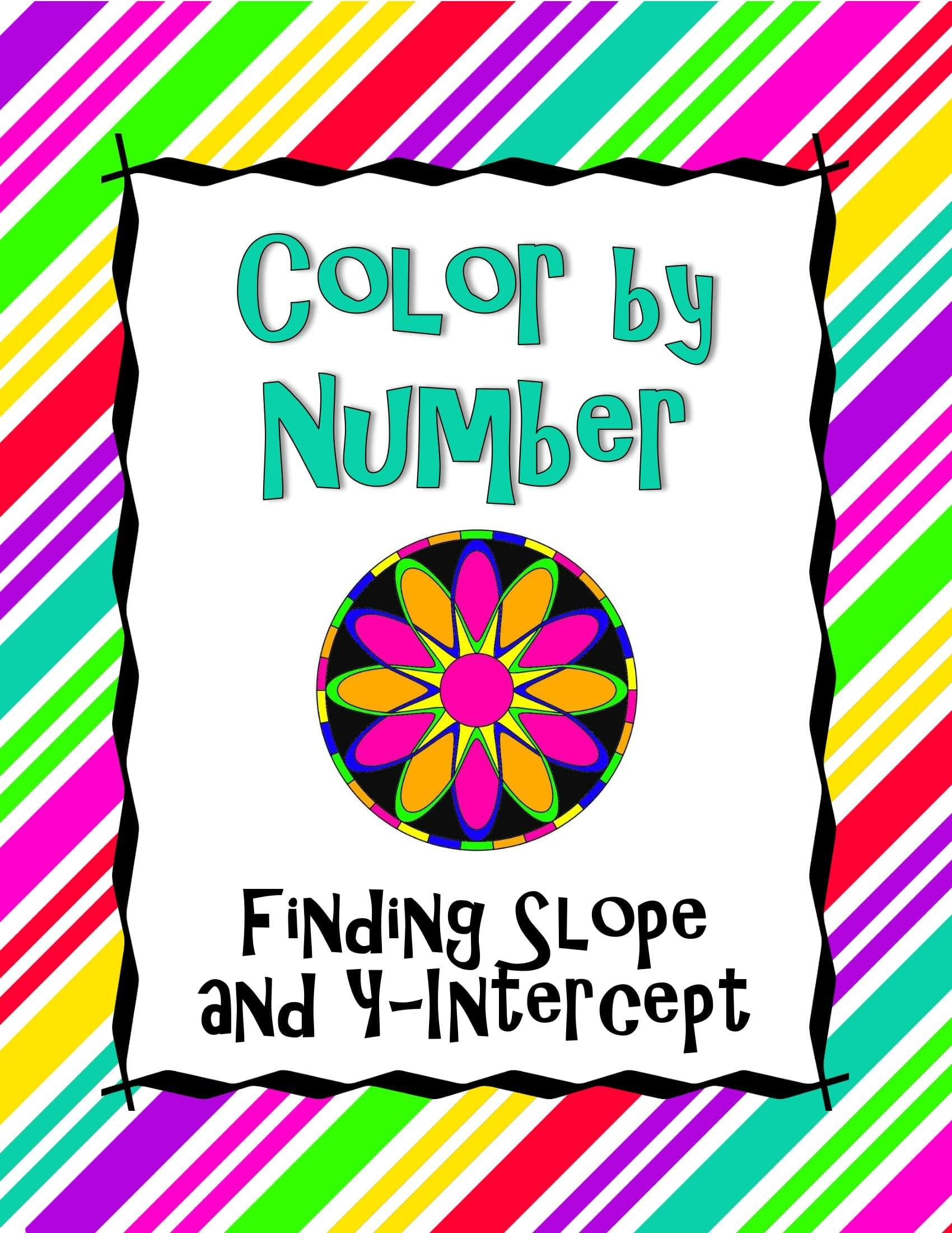 Finding Slope And Y Intercept Color By Number