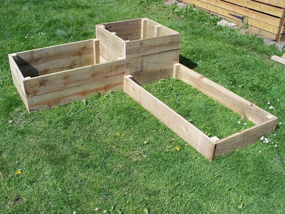 Corner Wooden Garden Planter,Tanalised Raised Beds