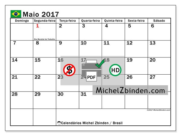Calendarios Para Imprimir Calendario Maio Calendario Para