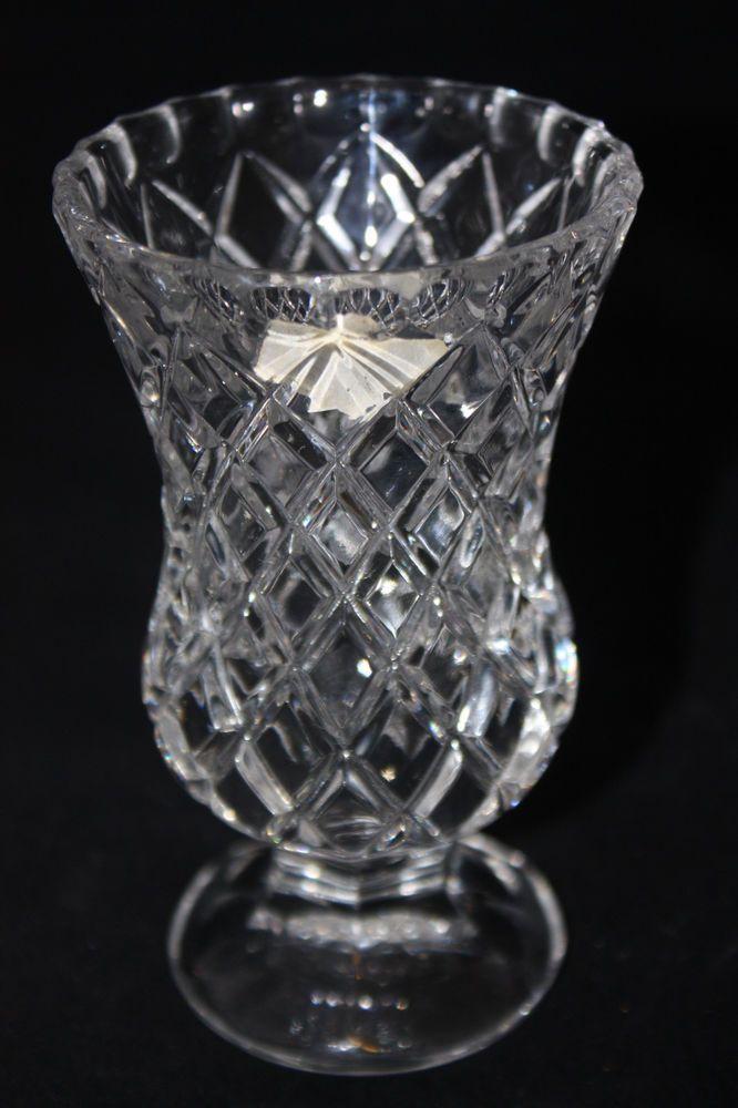 Vintage Zajecar Yugoslavia 24 Lead Crystal Glass Bud Vase 475 X 3