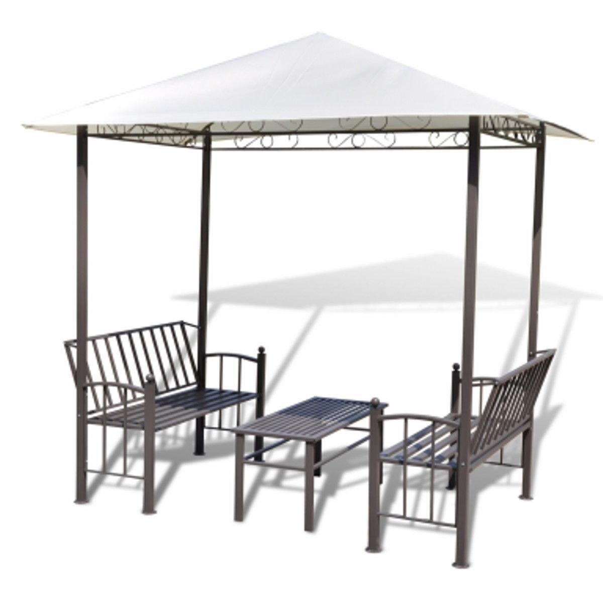 Outdoor Canopy #Gazebo Patio Furniture Set Backyard Table And Chairs  Loveseat