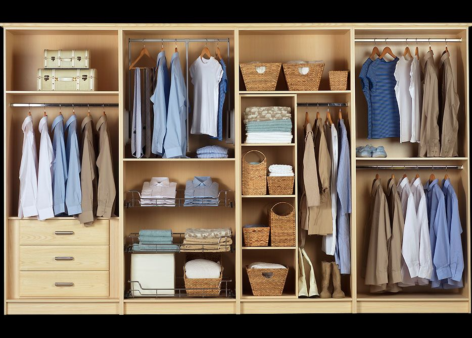 Get organised with a fitted sliding wardrobe with lots of Best wardrobe storage solutions