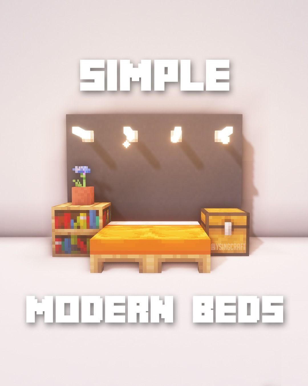 Minecraft Simple Modern House Designs: Minecraft Simple Modern Beds